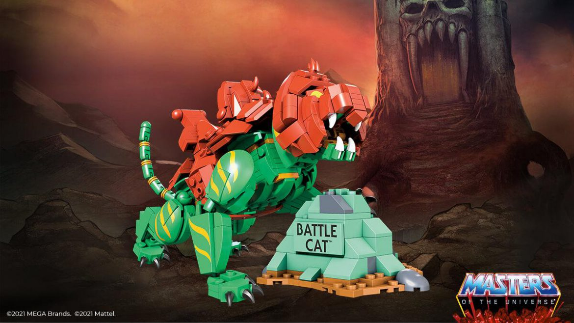 Mega Construx Masters of the Universe Battle Cat Build is Releasing Fall 2021